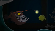 S2 E8 the light is attached to an Anglerfish