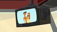 S2 E7 whale bus TV is still on
