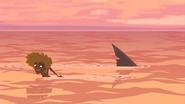 S1 E8 Broseph decides to swim back to the shore when he sees the shark swim past him