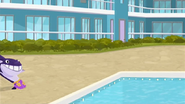 S1 E14 Wipeout can't stop as he slides towards the pool