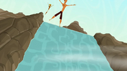 S1 E9 Reef and Broseph jump off the top of the waterfall