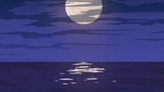 S2 E8 Full moon reflecting light on the water