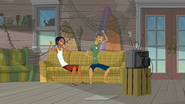 S2 E7 Ripper and Lance watch Reef and Lo on the TV