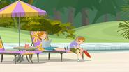 S1 E9 Erica and Brianna sit on a beach chair