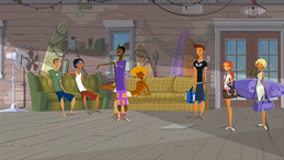 """S1 E1 Johnny introduces Reef, Emma and Fin to Lance and Ripper """"This is """"No Pants"""" Lance, and..."""""""