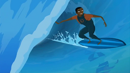S1 E11 Johnny surfing