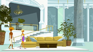 """S1 E9 Fin says """"So this is where the princess lives"""" as Fin, Broseph and Reef walk into the penthouse"""