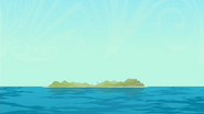 S1 E8 Sunset Island from afar
