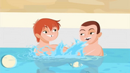 S1 E6 Todd and Mark playing in the pool