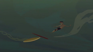 S1 E6 Broseph's board hits Reef's and he falls off