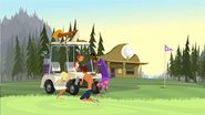 S1 E1 Broseph, Fin, Emma, Reef and Johnny clean a golf cart