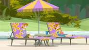 """S1 E9 Erica asks Lo """"There's a snack bar by the pool, right?"""""""