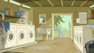 S2 E7 Staff Laundry room