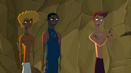 """S1 E9 Reef grabs the totem from Johnny says """"Must be my lucky day!"""""""