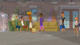 """S1 E1 Broseph greets Lance """"""""No Pants,"""" what's happening?"""",Lance says """"What's up, guys?"""""""