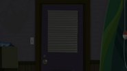 S2 E7 Building by hotel beach is dark on the inside