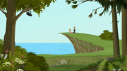 S2 E7 Reef and Lo sitting on cliff