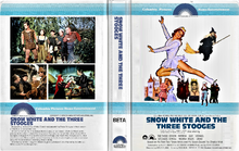 Snow White and the Three Stooges 1979 BETA Betamax (No VHS) Cover Art (CPHE Columbia Pictures Home Entertainment Clamshell)