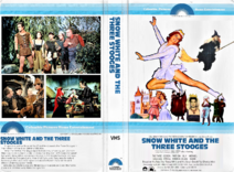 Snow White and the Three Stooges 1979 VHS Cover Art (CPHE Columbia Pictures Home Entertainment Clamshell)