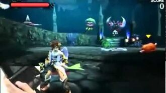 Kid Icarus Uprising Gameplay Footage for the Nintendo 3DS from Nintendo World 2011 Stage Show