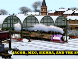 Jacob, Meg, Sierra, and the Snow