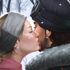 Anna kissing Male version of your character
