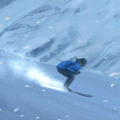 Female MC skiing in Basic Gear