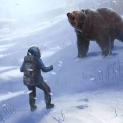 Facing the brown bear in Basic Gear