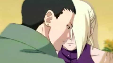 Shikamaru and Ino kissing scene