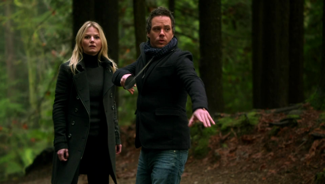 Neal and Emma are randomly sent to the woods. (