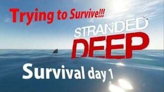 Trying to Survive!!!! Survival day 1 (Stranded Deep)