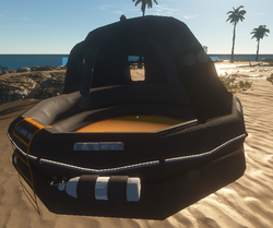 Tented raft