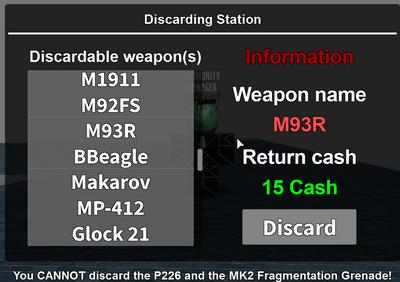 SoE wiki discard weapon