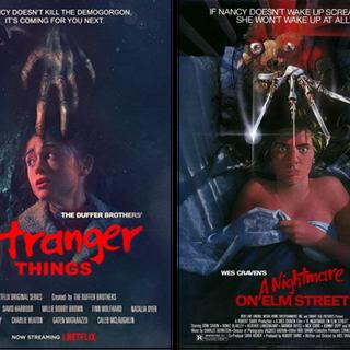 Rechts die Vorlage: A Nighmtare on Elm Street
