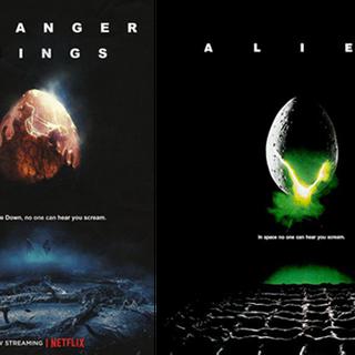 Rechts die Vorlage: Alien