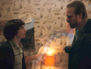 Hopper and mike bedroom stranger things 2