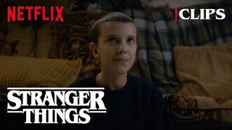 Eleven explores the wheeler house stranger things 1