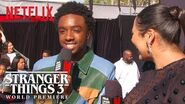 Caleb McLaughlin Stranger Things 3 Premiere Netflix
