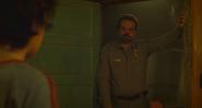 Hopper confronts Eleven