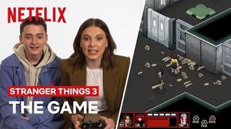 SPOILER ALERT Cast Try Stranger Thing 3 Video Game for the First Time Netflix