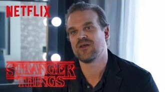 Stranger Things Rewatch Behind the Scenes David Harbour on Working With Kids Netflix