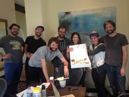 Writer's Room Celebrating Jessie's Birthday