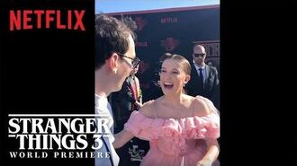 The Curiosity Carpet with Mr. Clarke - Stranger Things 3 Premiere - Netflix