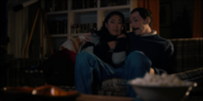 On-Stranger-Things-Mr.-Clarke-and-Jen-watch-The-Thing-and-eat-popcorn-640x319
