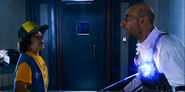 S03E06-Dustin rushes in to tase Dr. Zharkov