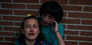 S03E04-Mike comforts an exhausted Eleven