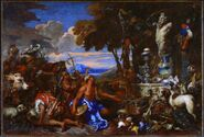 Giovanni Benedetto Castiglione - An Offering to Pan