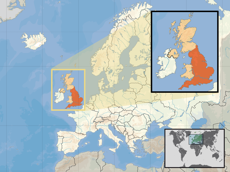 England stravaganza wiki fandom powered by wikia map of england highlighted in dark orange the lighter orange being all of uk gumiabroncs Gallery