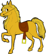 Butterscotch (With saddle and reins)