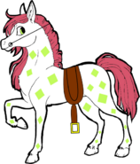 Crystal (With saddle and reins)